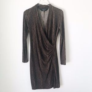 Norma Kamali Cocoa Python Wrap Dress